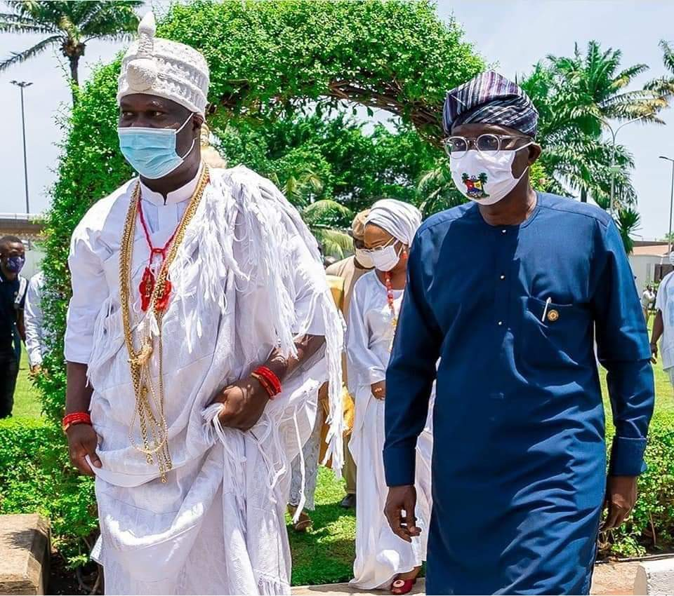 OONI IN LAGOS WITH HIS INVENTED LOCALLY MADE FUMIGATORS TO CURB CORONAVIRUS.